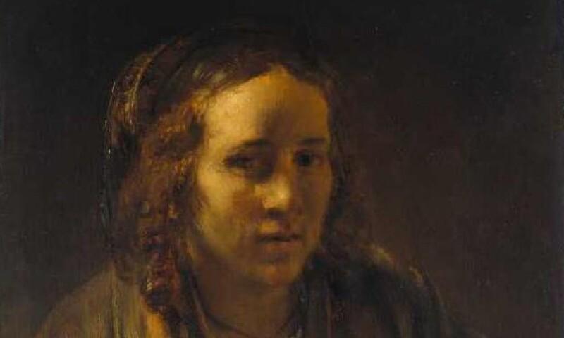 Rembrandt, Lichtstudie met Hendrickje Stoffels als model, ca. 1659, olieverf op paneel, 72.5 x 51.5 cm, Städel Museum, Frankfurt am Main, permanent bruikleen van het BRD.jpg