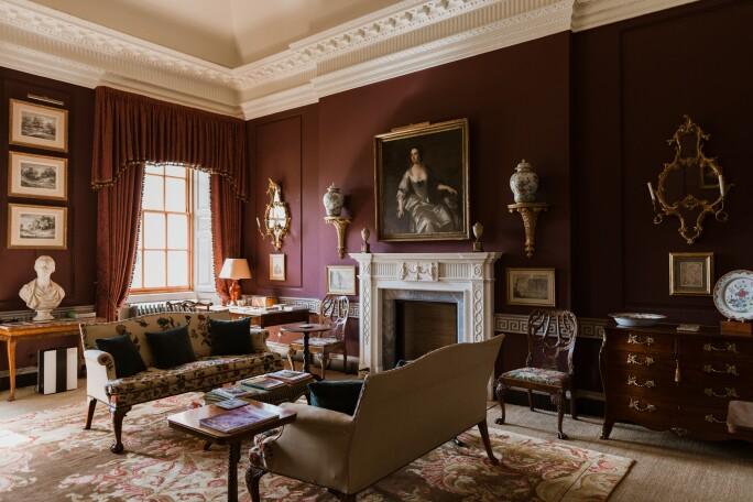 Boudoir after restoration, Marchmont House