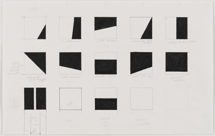 ELLSWORTH KELLY, STUDY FOR STATIONS OF THE CROSS, 1987. © ELLSWORTH KELLY FOUNDATION, PHOTO RON AMSTUTZ COURTESY ELLSWORTH KELLY STUDIO.