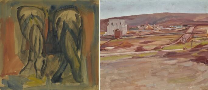 David Bomberg, Horses £4,000–6,000; Scene in Palestine £25,000–35,000