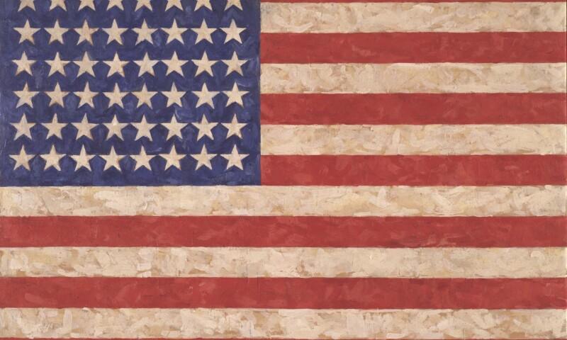 Jasper Johns, 'Flag', 1958, Private collection © Jasper Johns-VAGA, New York-DACS, photo by Jamie Stukenberg © The Wildenstein Plattner Institute, 2017
