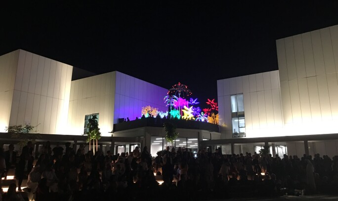Opening night at the Jameel Arts Centre in Dubai