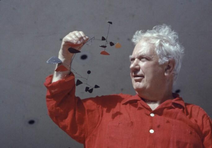 Alexander Calder & Mobile Model