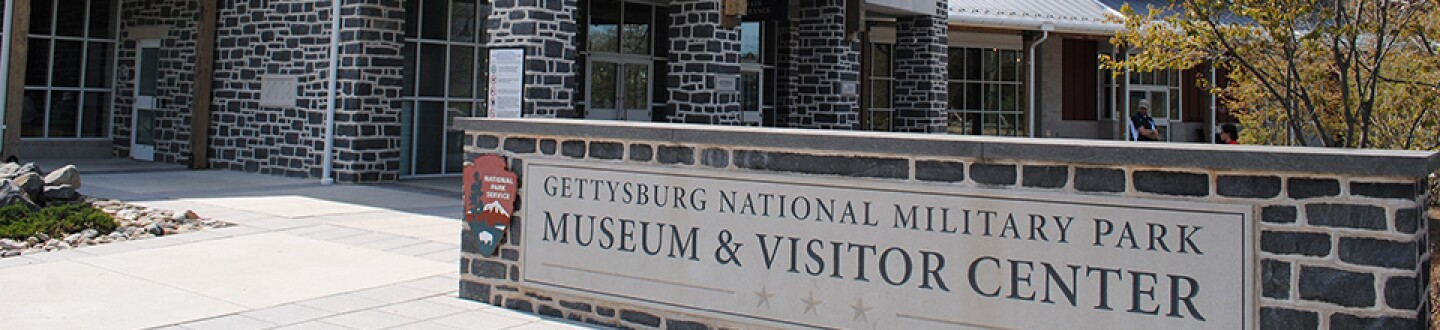 Exterior view of Gettysburg National Military Park Museum and Visitor Center.