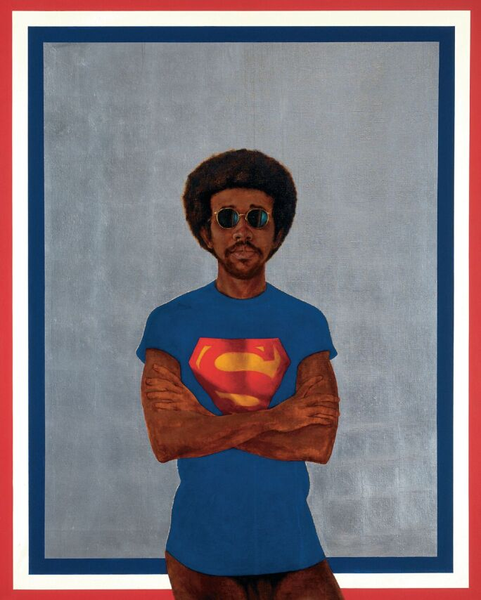 Barkley L Hendricks, Icon for My Man Superman (Superman Never Saved Any Black People -- Bobby Seale) (1969)