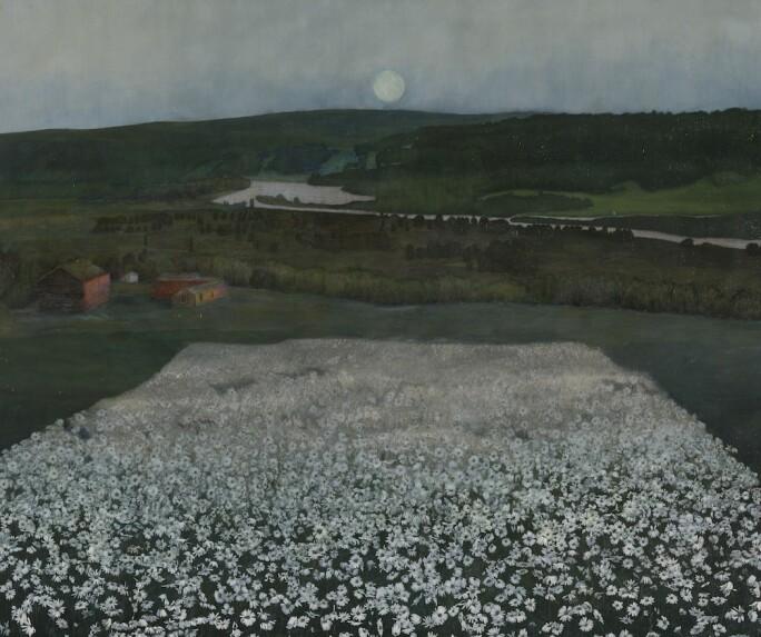 Harald Sohlberg, Flower Meadow in the North, 1905. (Nasjonalmuseet, Oslo)