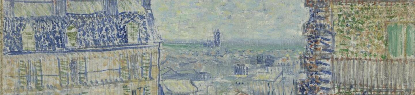 Vincent Van Gogh, View from Theo's Apartment (Detail)