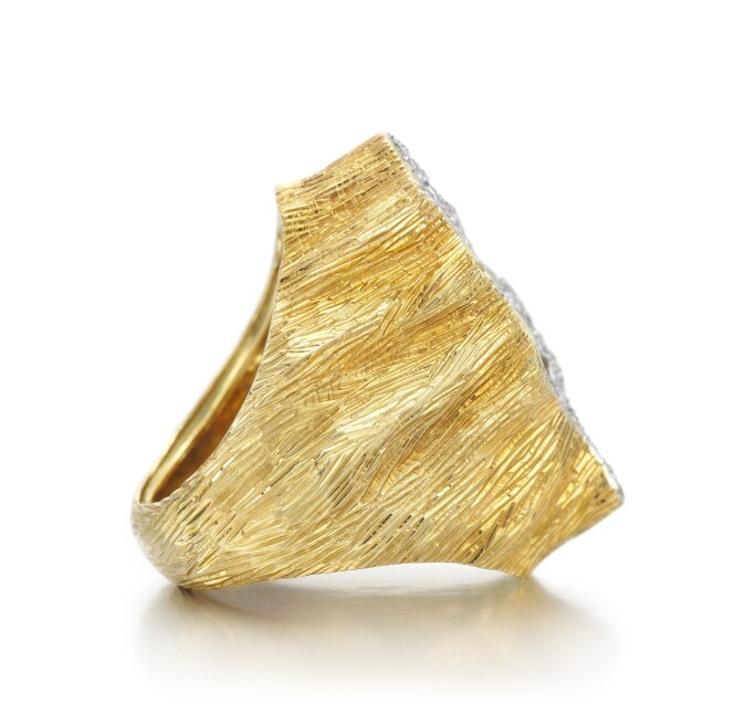Diamond cocktail ring, Grima, 1968 side view
