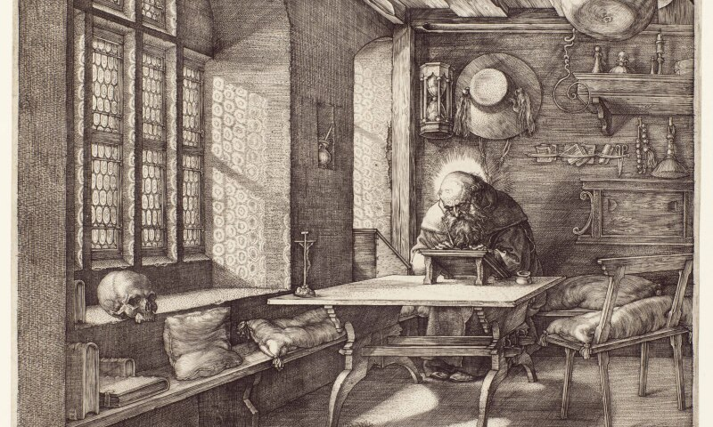 Albrecht Durer (1471–1528), St. Jerome in his Study, 1514. The Huntington Library, Art Collections, and Botanical Gardens.jpg
