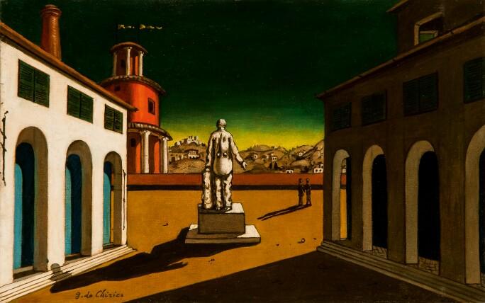 Giorgio de Chirico, Piazza d'Italia. Estimate: €180,000-250,000