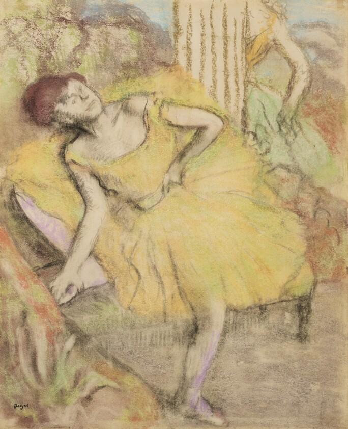Lot 139, Edgar Degas, Danseuse au repos, counterproof with pastel on paper, circa 1897-1900, Impressionist & Modern Art Day Sale November 13th, 2018, estimate $ 500,000-700,000 .jpg