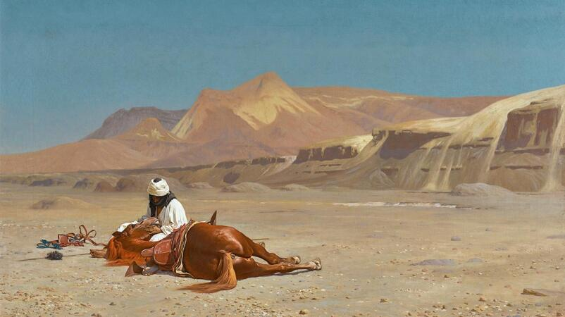 Gérôme's Cinematic Vision of the North African Desert