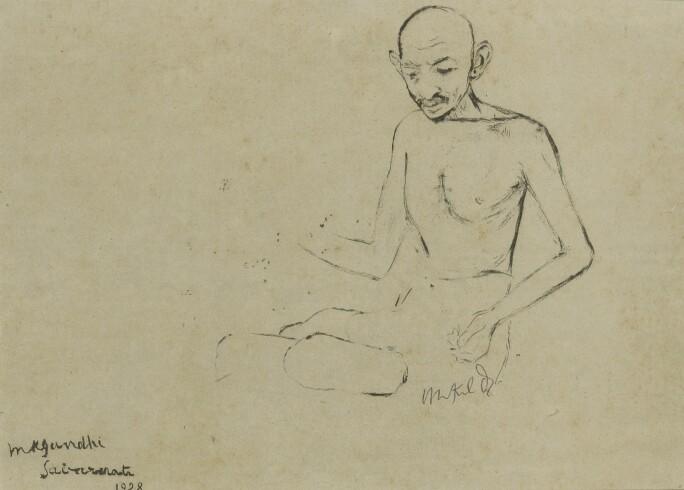 Drawing of Gandhi